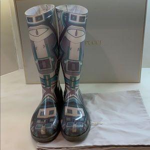 Emilio Pucci Shoes - Authentic Emilio Pucci high waterproof rain boots